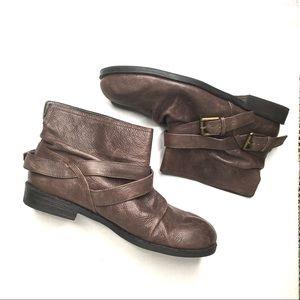 Nine West Vintage America Leather Ankle Booties